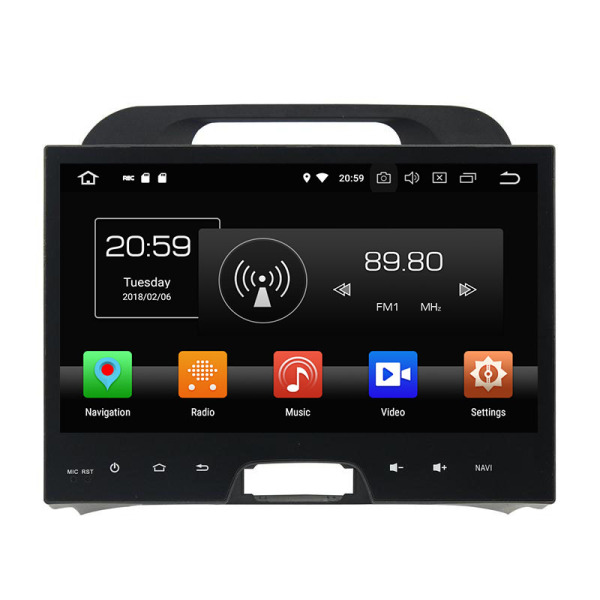 Android 8.1 OS Multimedia Player for Sportage 2010-2012
