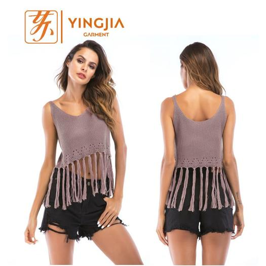 Hot Selling Sleeveless Sexy Knit Top For women
