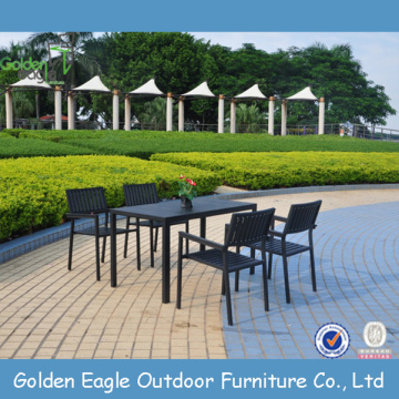 Outdoor Plastic Wood Dining Set With UV-proof