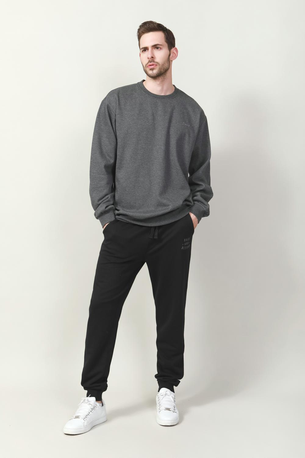 men's melange fleece top