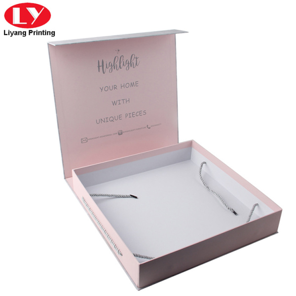 Clothing carton box packing printing with handle