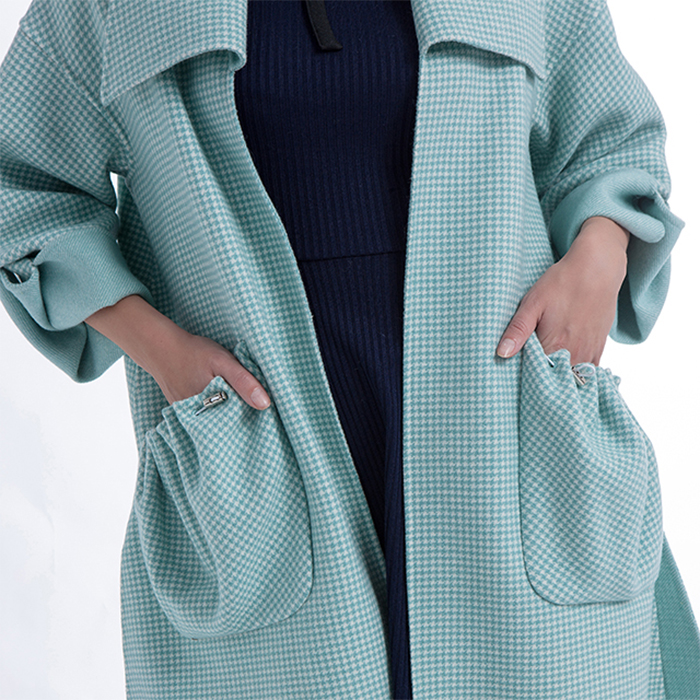 The Side of Fashion Lantern Sleeve Cashmere Overcoat