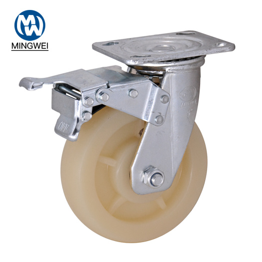 6 Inch Metal Fork Caster Wheels With Brake