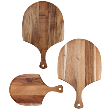 3 pcs of acacia wood cutting board set