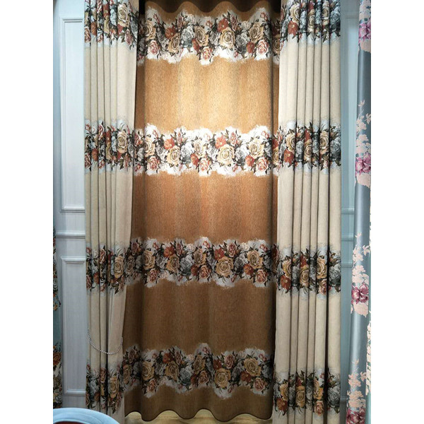 2018 Chenille large jarquard window curtain fabric