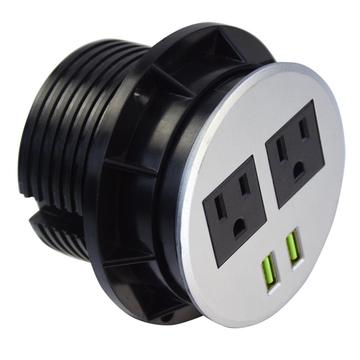 US Dual Power Outlets Unit Strip USB