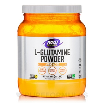 how much l glutamine powder to take