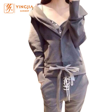 Leisure Suits Hooded Sweatshirts Three Sets for Women