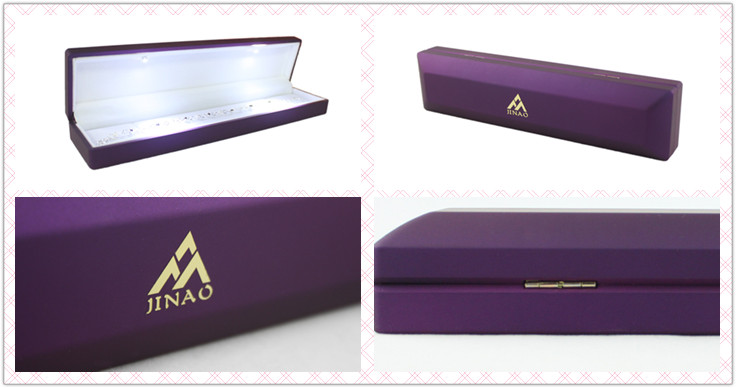 Luxury bracelet box custom logo with velvet inside