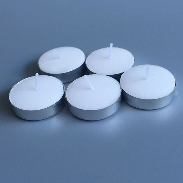 Long Burning Wax Tea Light Candles Polybag