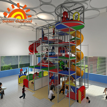 Indoor Kids Playground With Slide For Sale