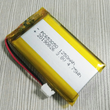 Hottest 653050 3.8V 1250mAh Li Polymer Battery