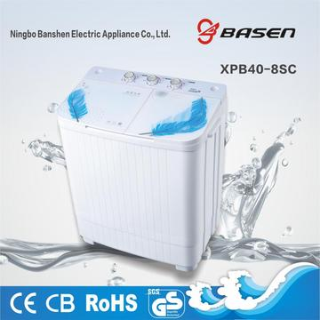 Blue Glass Cover 4KG Twin Tub Washing Machine