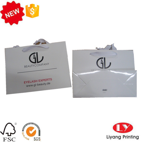 White paper shppping jewelry packaging bag