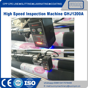 High Speed Material Quality Inspecting Rewinding Machine