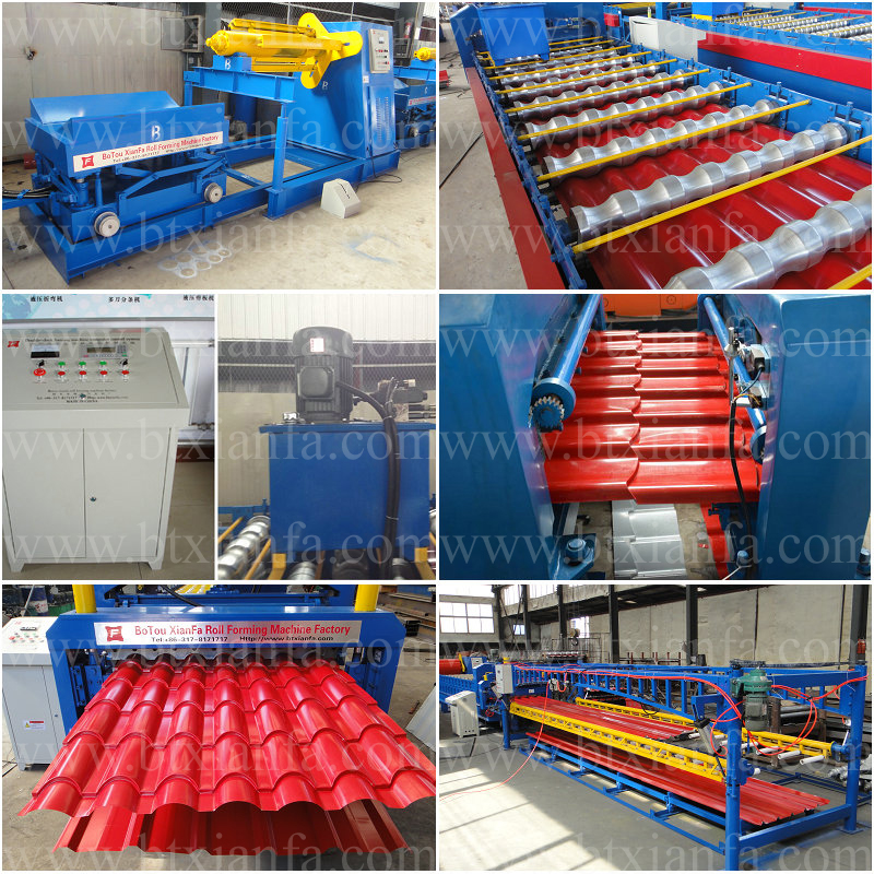 Nigeria Type Metal Roof Panel Roll Forming Machine