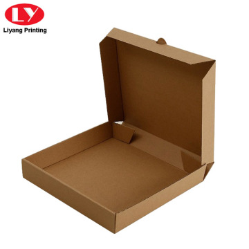 Paper Corrugated Pizza Box with Custom Logo Printed