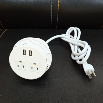 US 2 socket USB ports power strip