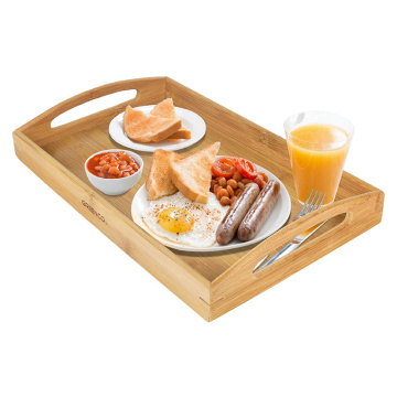 2018 custom new design bamboo serving tray for food