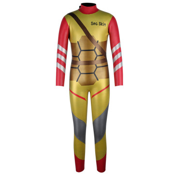Seaskin Boys Back Zip Golden Diving Wetsuits