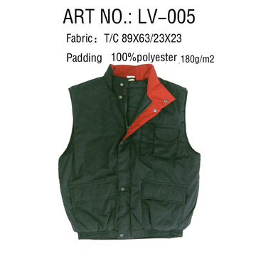 Professional outdoor padded mens vest