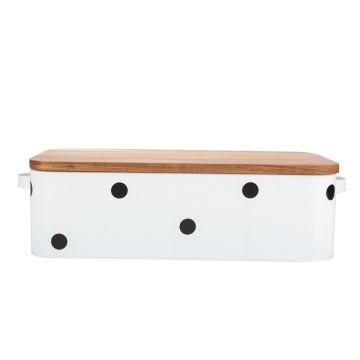 Bread Box Wooden Lid With Logo Printing