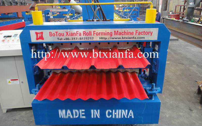 double sheet roof panel roll forming machine