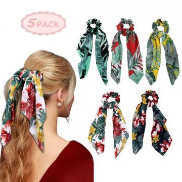Hair Scrunchies - Hair Scarf Hair Tie Scrunchies Elastic