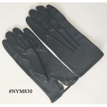 White Nylon Formal Mens Gloves with Snap Closure