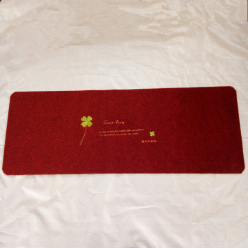 Fashion style embroidered entrance door mat for home