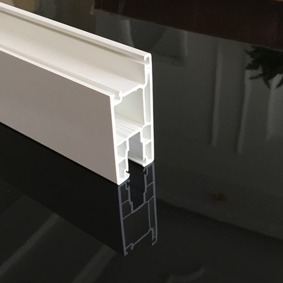 Sliding PVC Profile with Double Tracks