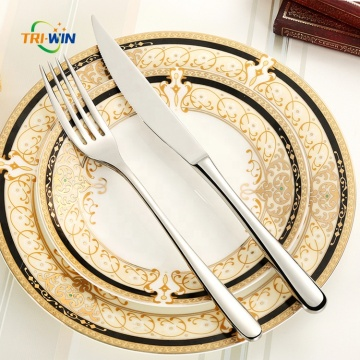 Premium restaurant stainless steel serrated steak knife