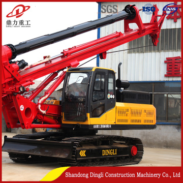 White drilling rig 20m concrete foundation engineering rig