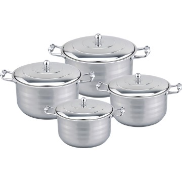 Zinc alloy 8pcs wide edge cookware