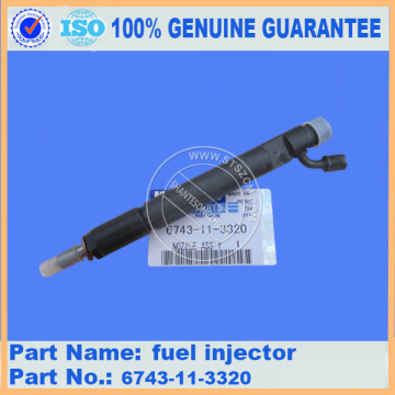 fuel injector 6743-11-3320 for PC360-7 komatsu engine parts