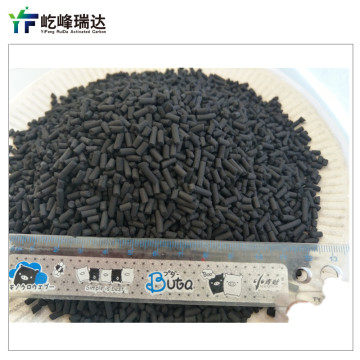 Coal-based columnar net gas activated carbon