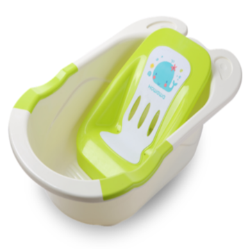 Infant Safety Plastic Bathtub With Bath bed