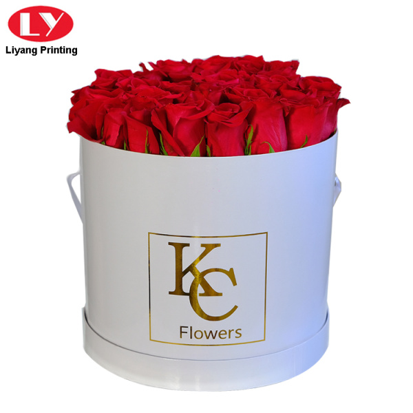 Paper Cardboard White Round Box for Flowers