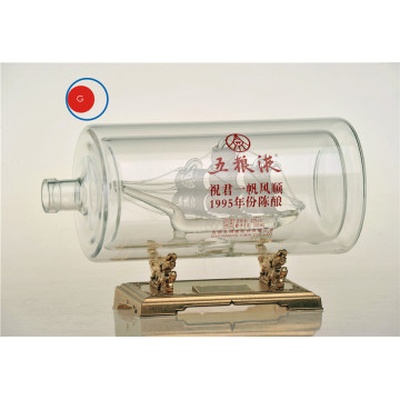 Wuliangye Successful Sailing Glass Craft Bottle