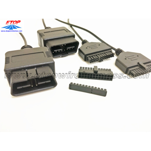 24V OBD2 to micro-fit connectors overmolding