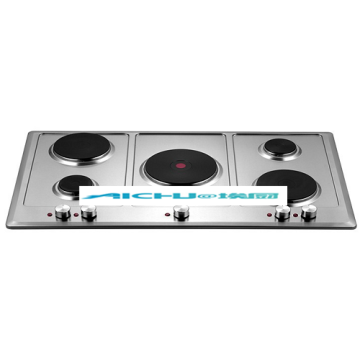 Built-in 5 Burners Solid Element Electric Cooktops