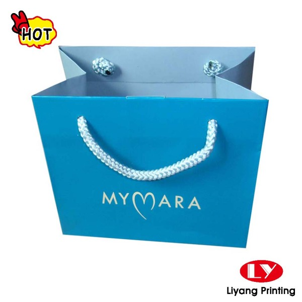 Promotional custom logo printed cheap paper bag