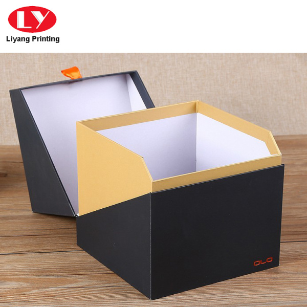 Luxury Black and Gold Perfume Gift Packing Box