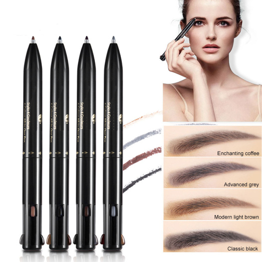Waterproof Rotatable Pressed 4 in 1 Eyebrow Pencil