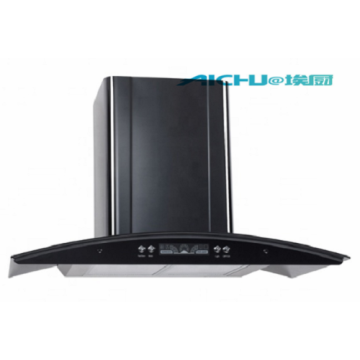 Black slim cooker hood
