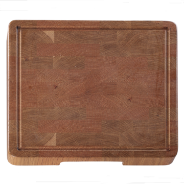 Square wooden chopping board