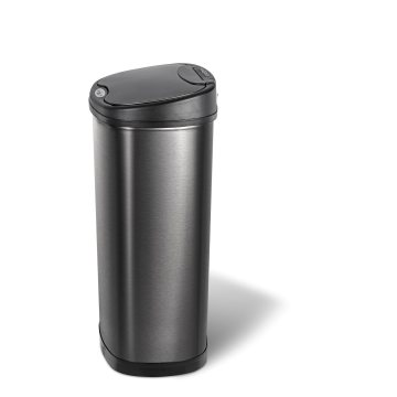 Large Capacity Outdoor Supermarket Beautiful Sensor Trash Can