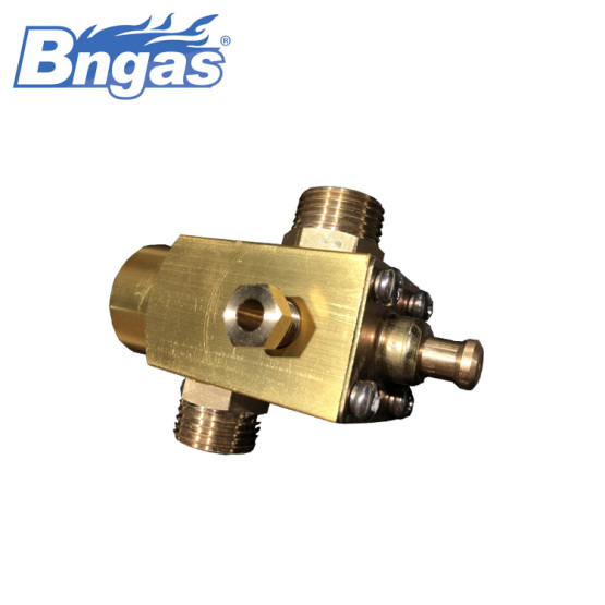 Non-adjustable large flow valve brass safety valve