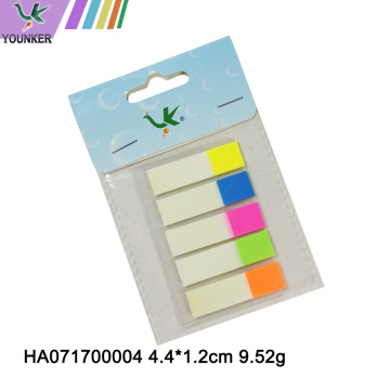 Neon Transparent Page Markers Sticky Notes