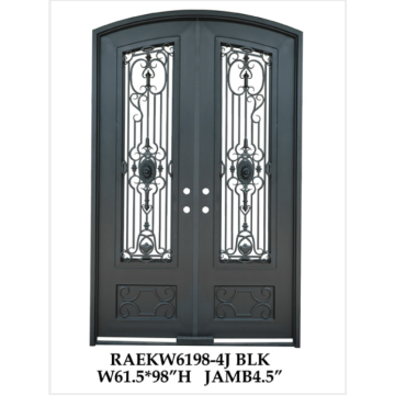 Fancy handmade Wrought Iron Double Doors